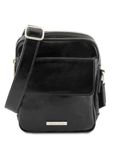 Tuscany Leather - Larry - Leather Crossbody Bag Black - TL141915/2