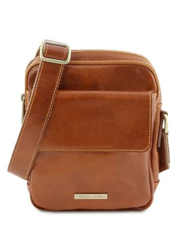 Tuscany Leather - Larry - Leather Crossbody Bag Honey - TL141915/3