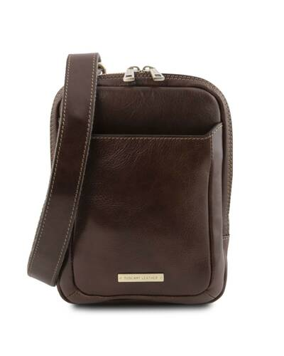 Tuscany Leather - Mark - Leather Crossbody Bag Dark Brown - TL141914/5