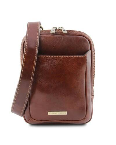 Tuscany Leather - Mark - Leather Crossbody Bag Brown - TL141914/1