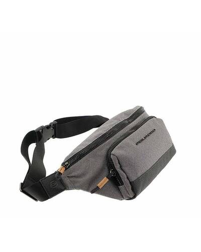 Piquadro Blade Leather and fabric fanny pack, Grey - CA4450BL/GR