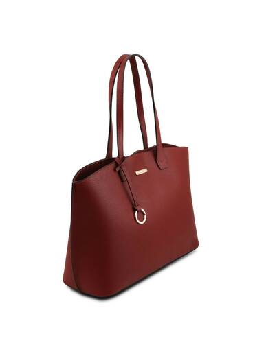 Tuscany Leather TL Bag - Borsa shopping in pelle morbida Rosso - TL141828/4