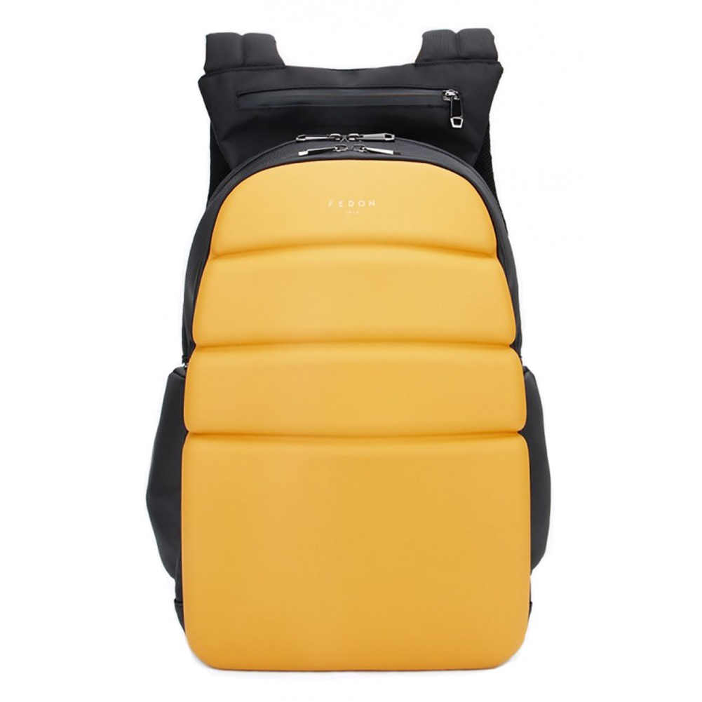 Fedon 1919 - Ninja - Semi-rigid 13'' laptop backpack, Yellow - MZ1930003/GI