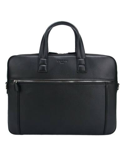 "Fedon 1919 - Dimon - Leather and nylon briefcase for 15"" laptop, Black - MB1930001/N"