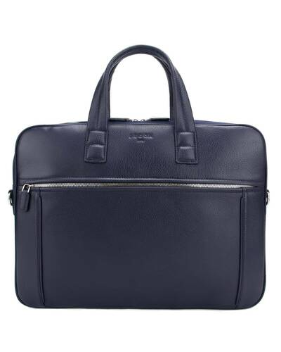 "Fedon 1919 - Dimon - Leather and nylon briefcase for 15"" laptop, Blue - MB1930001/BLU"