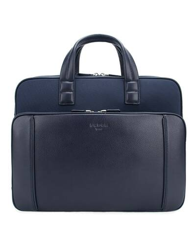 "Fedon 1919 - Dimon - Cartella in pelle e nylon porta PC 13"", Blu - MB1930002/BLU"