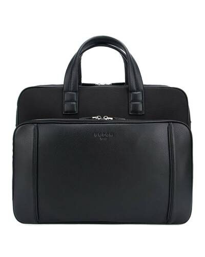 "Fedon 1919 - Dimon - Leather and nylon briefcase for 13"" laptop, Black - MB1930002/N"