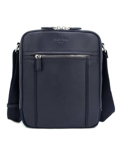 Fedon 1919 - Dimon - Leather and nylon crossbody bag, Blue - MB1930003/BLU