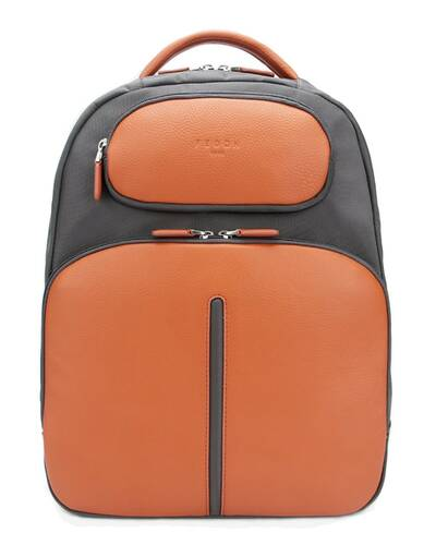 "Fedon 1919 - Web - Leather and nylon laptop backpack 13"" , Orange - MZ1930006/AR"