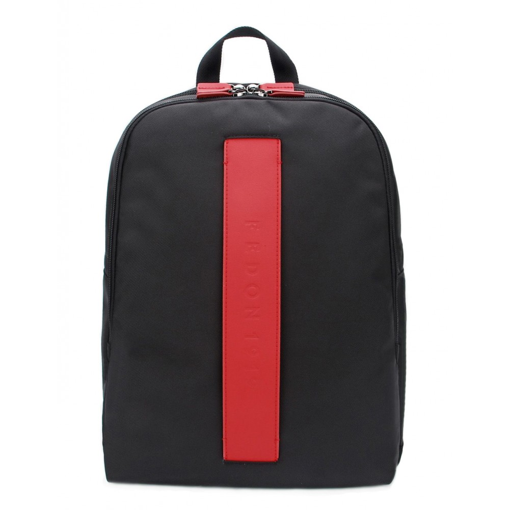 Fedon 1919 - Stripe - Nylon Laptop Backpack 13'', Red - MZ1930005/RO