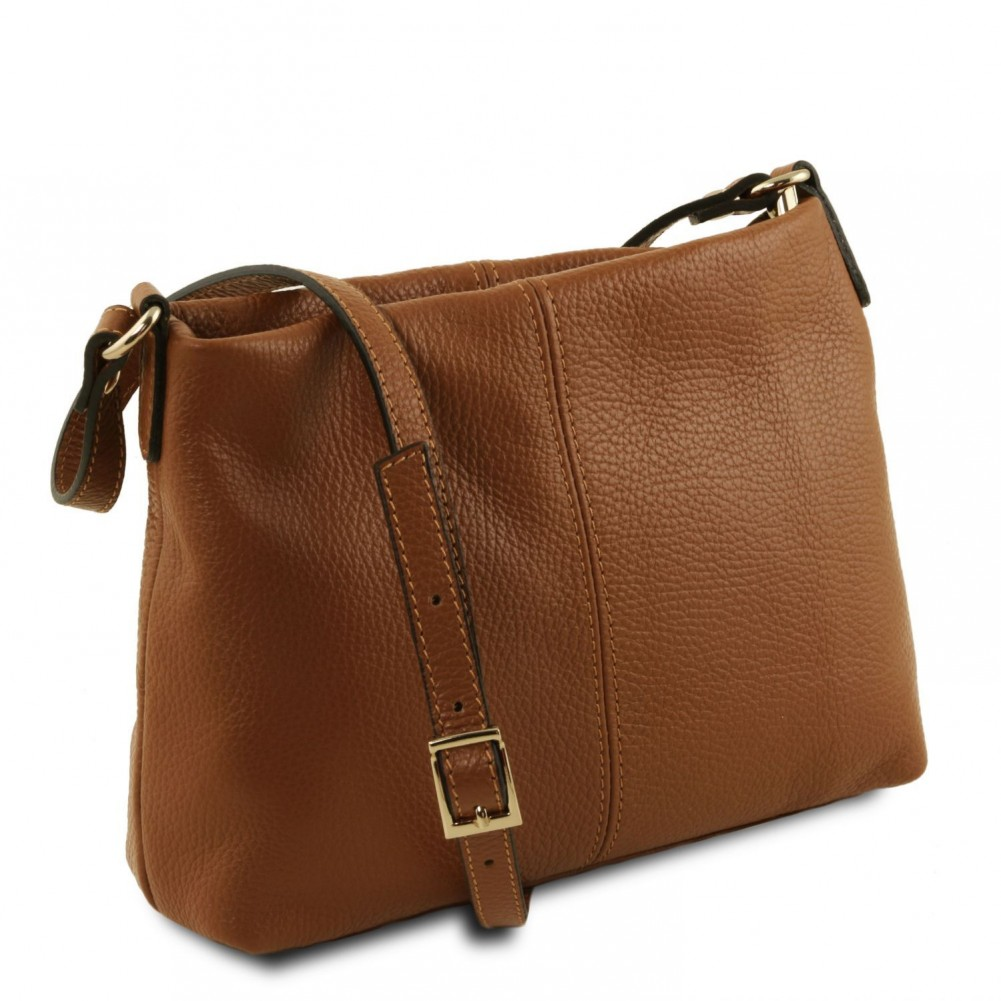 Tuscany Leather TLBag Borsa a tracolla in pelle morbida Cognac - TL141720/6