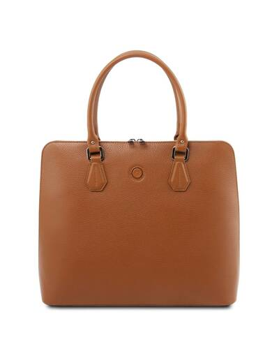 Tuscany Leather Magnolia - Leather business bag for women Cognac - TL141809/6