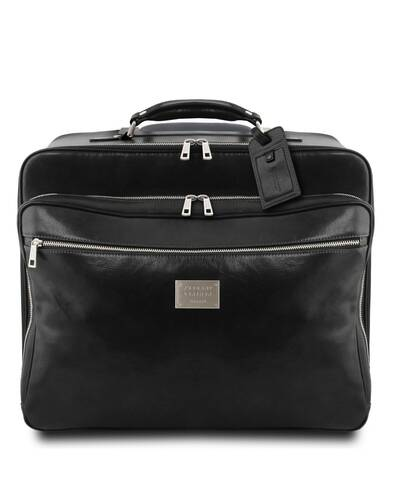 Tuscany Leather - Varsavia - Borsa pilota in pelle con due ruote Nero - TL141888/2