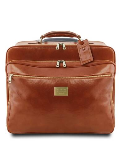 Tuscany Leather - Varsavia - Borsa pilota in pelle con due ruote Miele - TL141888/3