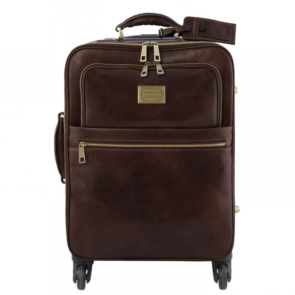 Tuscany Leather TL Voyager Trolley verticale in pelle con 4 ruote Testa di Moro - TL141911/5