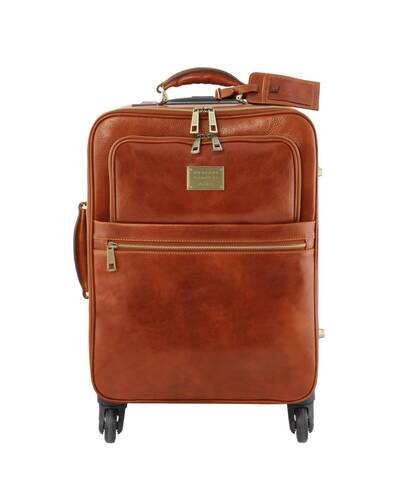 Tuscany Leather TL Voyager Trolley verticale in pelle con 4 ruote Miele - TL141911/3