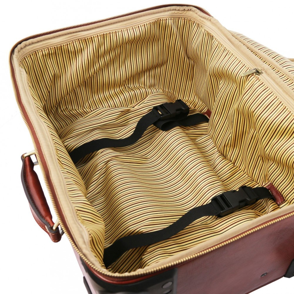 Tuscany Leather TL Voyager Trolley verticale in pelle con 4 ruote Nero - TL141911/2