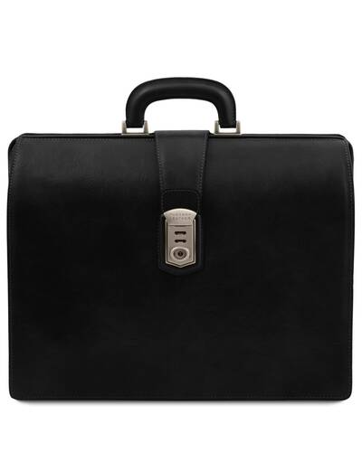 Tuscany Leather Canova Leather Doctor bag briefcase 3 compartments Black - TL141826/2