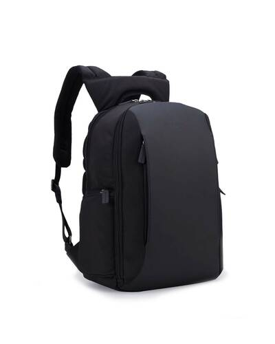 Fedon 1919 - Tech - Semi-rigid 13'' laptop backpack, Black - MZ1930007/N