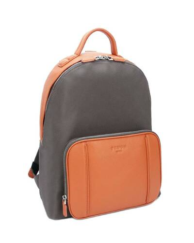"Fedon 1919 - Dimon - Men's laptop backpack 13"", Orange - MZ1930002/AR"