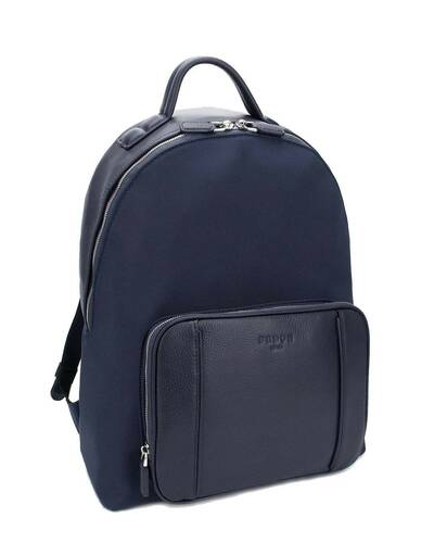 "Fedon 1919 - Dimon - Men's laptop backpack 13"", Blue - MZ1930002/BLU"