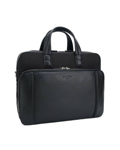 "Fedon 1919 - Dimon - Cartella in pelle e nylon porta PC 13"", Nero - MB1930002/N"