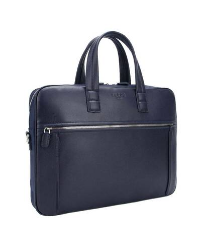 "Fedon 1919 - Dimon - Cartella in pelle e nylon porta PC 15"", Blu - MB1930001/BLU"