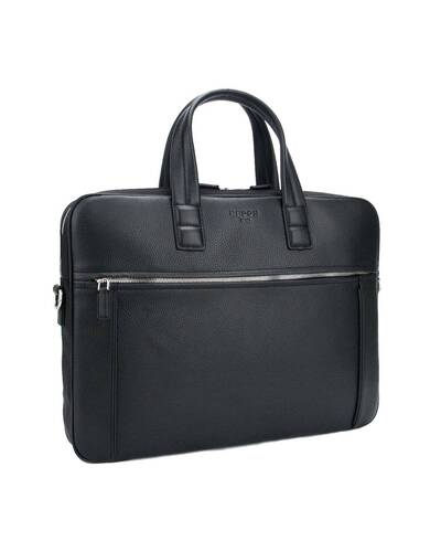 """Fedon 1919 - Dimon - Leather and nylon briefcase for 15"""" laptop, Black - MB1930001/N"""
