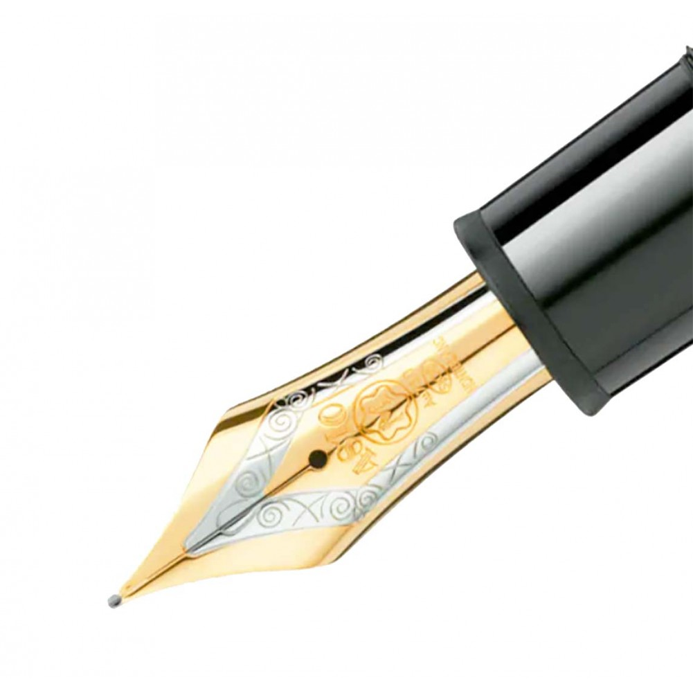 Montblanc Meisterstück Stilografica Gold-Coated, Nero - MB115384