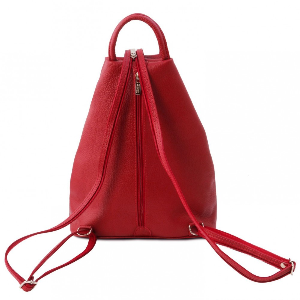 Tuscany Leather Shanghai Leather backpack Lipstick Red - TL141881/120