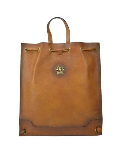 Pratesi Contea leather backpack - B490 Bruce Cognac
