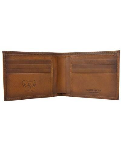Pratesi Piazza Dalmazia leather men's wallet - B070 Bruce Brown