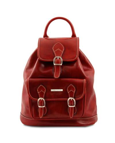 Tuscany Leather - Singapore - Zaino in pelle Rosso - TL9039/4