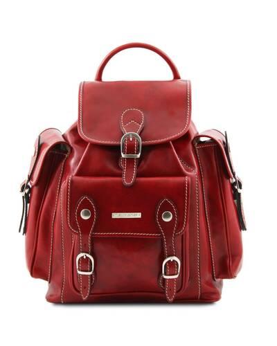 Tuscany Leather - Pechino - Zaino in pelle con ampie tasche Rosso - TL9052/4