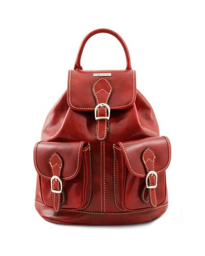 Tuscany Leather - Tokyo - Leather Backpack Red - TL9035/4
