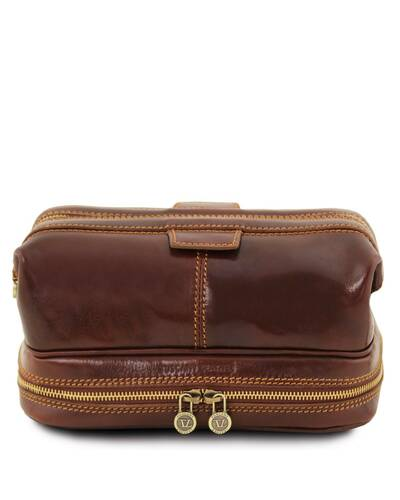 Tuscany Leather Patrick Leather toilet bag Brown - TL141717/1