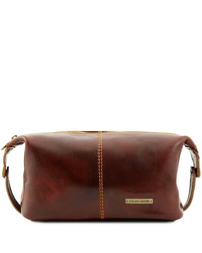 Tuscany Leather - Roxy - Leather toilet bag Brown - TL140349/1