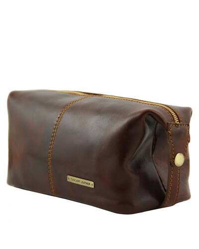 Tuscany Leather - Roxy - Leather toilet bag Black - TL140349/2
