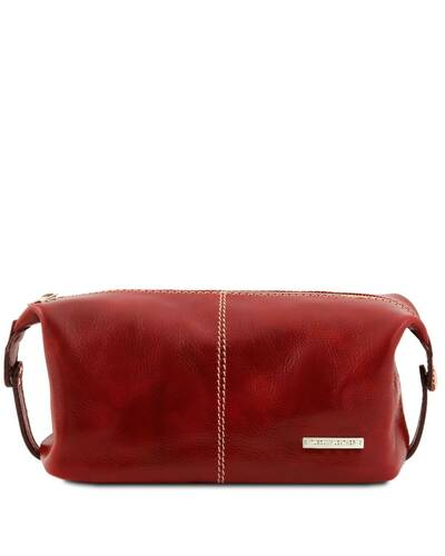 Tuscany Leather - Roxy - Leather toilet bag Red - TL140349/4