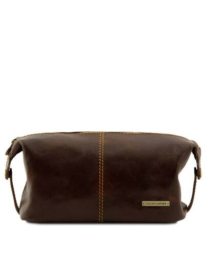 Tuscany Leather - Roxy - Leather toilet bag Dark Brown - TL140349/5