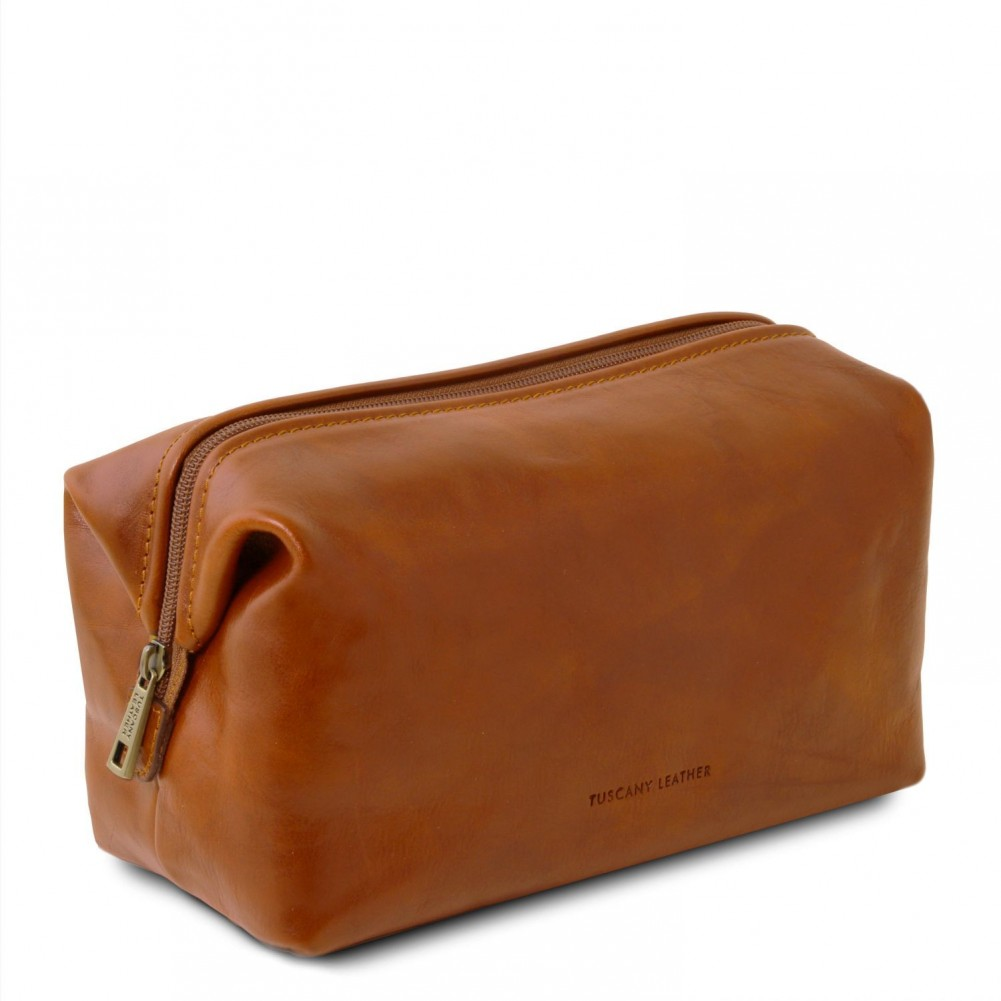 Tuscany Leather - Smarty - Beauty case in pelle - Misura piccola Miele - TL141220/3