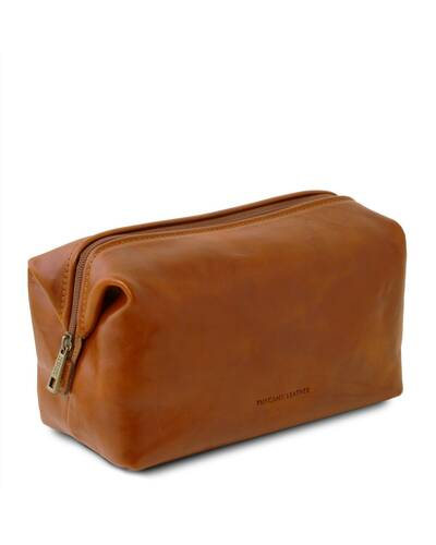 Tuscany Leather - Smarty - Leather toilet bag - Small size Honey - TL141220/3