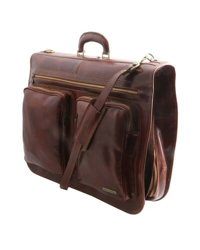Tuscany Leather - Tahiti - Garment leather bag Brown - TL3030/1