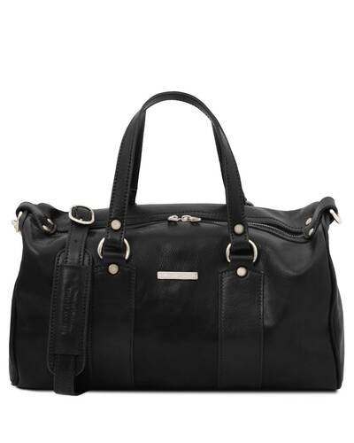 Tuscany Leather - Lucrezia - Leather maxi duffle bag Black - TL141977/2