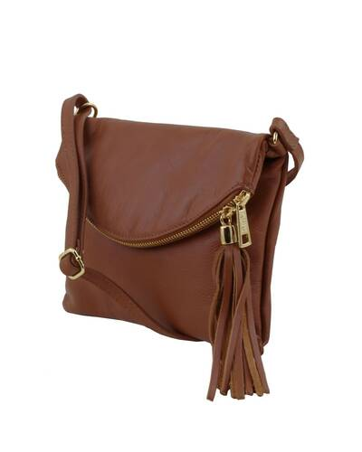 Tuscany Leather TL Young bag - Shoulder bag with tassel detail Cinnamon - TL141153/128