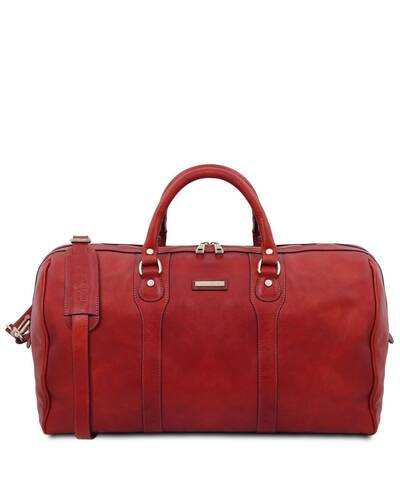 Tuscany Leather - Oslo - Travel leather duffle bag - Weekender bag Natural - TL141913/100