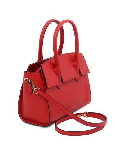 Tuscany Leather Brigid Leather handbag Lipstick Red - TL141943/120