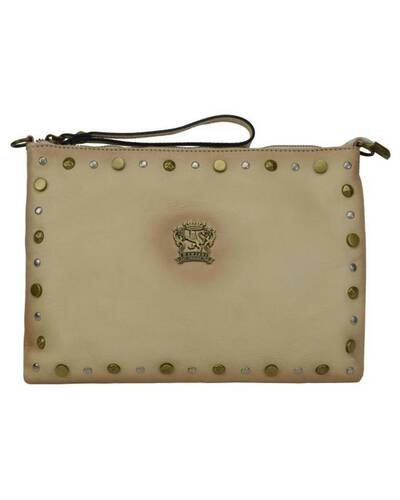 Pratesi Montebonello leather crossbody bag - B456 Bruce Cream