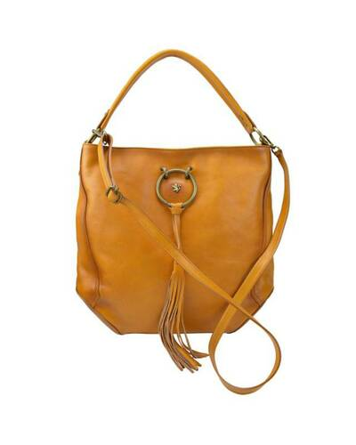 Pratesi Faella leather shoulder bag - B477 Bruce Cognac