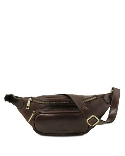 Tuscany Leather Leather fanny pack Dark Brown - TL141797/5